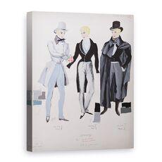 Tablou Canvas - A. Lebrun - Lensky, costume din actele I, II si III ale operei Eugene Oneg, fig. 1