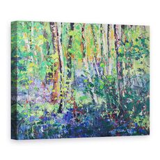 Tablou Canvas - Sylvia Paul - Bluebells si frunze de dans, fig. 1