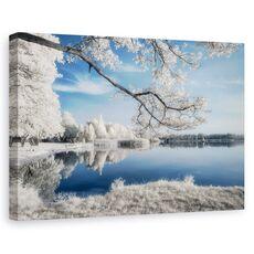 Tablou canvas - Irenkowo, Peisaj, Reflectie, Calm, Frunze, fig. 1