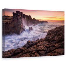 Tablou canvas - Zid langa mare, Peisaj, Australia, Peisaj, Apa, fig. 1