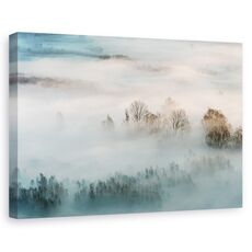 Tablou canvas - Ceata hibernala, Peisaj, Iarna, Rasarit De Soare, fig. 1