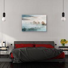 Tablou canvas - Ceata hibernala, Peisaj, Iarna, Rasarit De Soare, fig. 3