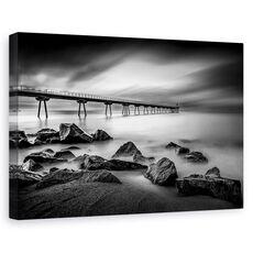 Tablou canvas - Pont del Petroli, Peisaj, Rasarit, Coasta, Spania, fig. 1