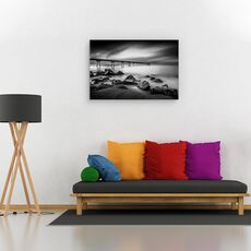 Tablou canvas - Pont del Petroli, Peisaj, Rasarit, Coasta, Spania, fig. 2