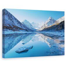 Tablou canvas - Lacul Akkem, Peisaj, Munte, Zapada, inghet, fig. 1