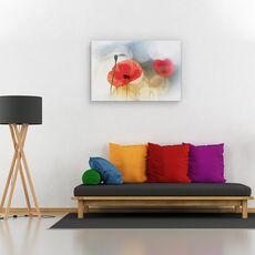 Tablou canvas - Dimineata cu maci, Flori, Rosu, Romantic, fig. 2