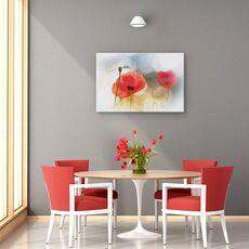 Tablou canvas - Dimineata cu maci, Flori, Rosu, Romantic, fig. 4