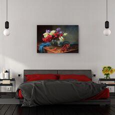 Tablou canvas - Natura moarta, Coacaze, Fructe De Padure, Flori, fig. 3