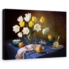 Tablou canvas - Natura moarta, Buchet, Flori, Lamaie, fig. 1