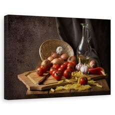 Tablou canvas - Pofta buna, Natura moarta, Compozitie, Rosie, Bucatarie, fig. 1
