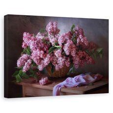 Tablou canvas - Cos cu liliac, Natura moarta, Violet, Flori, fig. 1
