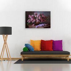 Tablou canvas - Cos cu liliac, Natura moarta, Violet, Flori, fig. 2