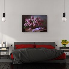 Tablou canvas - Cos cu liliac, Natura moarta, Violet, Flori, fig. 3