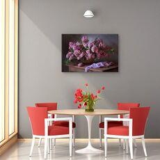 Tablou canvas - Cos cu liliac, Natura moarta, Violet, Flori, fig. 4