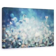 Tablou canvas - Diamante, Flori, Lentile, Estompare, Turcoaz, fig. 1