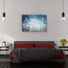 Tablou canvas - Diamante, Flori, Lentile, Estompare, Turcoaz, fig. 3