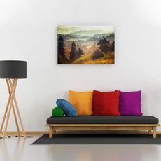 Tablou canvas -  Peisaj, Padure, Copaci, Casa, fig. 2