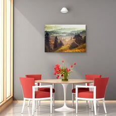 Tablou canvas -  Peisaj, Padure, Copaci, Casa, fig. 4