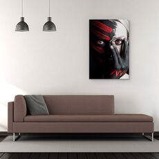 Tablou Canvas - 4 Elemente - Foc, Rosu, Pamant, Portret, Pofta, Studio, fig. 2