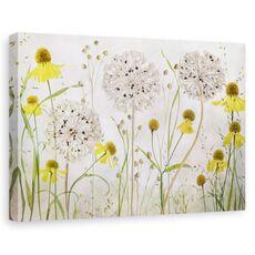 Tablou canvas - Allium si helenium, Natura moarta, Flori, Camp, Gradina, fig. 1