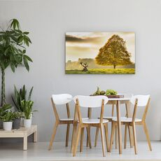 Tablou Canvas - Cerb, Animal, Camp, Peisaj, Copac, Natura, fig. 4
