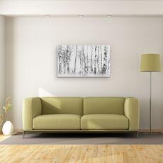 Tablou Canvas - Alb-Negru, Copac, Lumina, Ceata, Alb-Negru, fig. 2