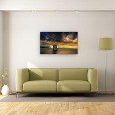 Tablou Canvas - Vine Furtuna..., Peisaj, Italia, Toscana, Cer, Raza De Soare, Rau, fig. 2