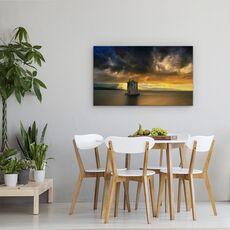 Tablou Canvas - Vine Furtuna..., Peisaj, Italia, Toscana, Cer, Raza De Soare, Rau, fig. 4