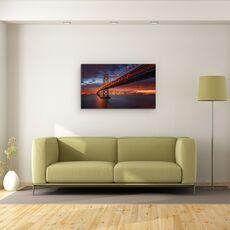 Tablou Canvas - Incendiu Peste San Francisco, Golden Gate, Cer, Apus De Soare, fig. 2