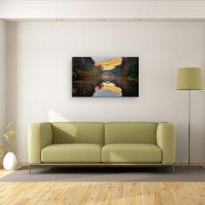 Tablou Canvas - Gradina De Toamna, Copaci, Apa, Pod, Calatorie, Turism, fig. 2