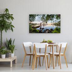 Tablou Canvas - Vedere La Lac, Peisaj, Copac, Jurnal, Frunze, Apa, fig. 4