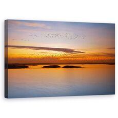 Tablou Canvas - Pana La Apus, Peisaj, Lac, Pasari, Ocean, fig. 1