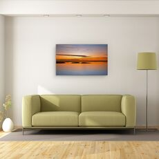 Tablou Canvas - Pana La Apus, Peisaj, Lac, Pasari, Ocean, fig. 2
