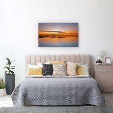 Tablou Canvas - Pana La Apus, Peisaj, Lac, Pasari, Ocean, fig. 3