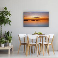 Tablou Canvas - Pana La Apus, Peisaj, Lac, Pasari, Ocean, fig. 4