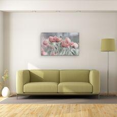 Tablou Canvas - Incet, Floare, Vara, Romantic, Gradina, Roz, Mac, fig. 2