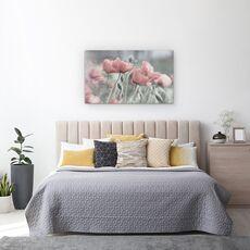 Tablou Canvas - Incet, Floare, Vara, Romantic, Gradina, Roz, Mac, fig. 3