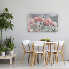Tablou Canvas - Incet, Floare, Vara, Romantic, Gradina, Roz, Mac, fig. 4