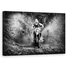 Tablou Canvas - Sport Extrem, Actiune, Columbia, Motocicleta, Spray, Noroi, fig. 1