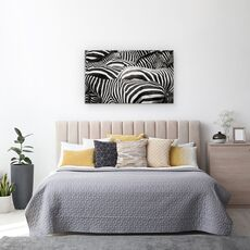 Tablou Canvas - Impreuna, Zebra, Dungi, Linii, fig. 3