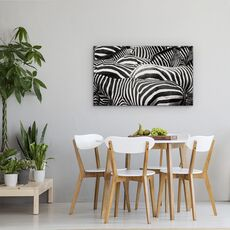 Tablou Canvas - Impreuna, Zebra, Dungi, Linii, fig. 4