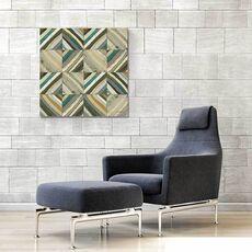 Tablou Canvas - Centrul I, Abstract, Patrat, Triunghi, Geometrie, Gri, Maro, fig. 1