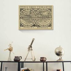 Tablou Canvas - Vintage Map on Khaki I, fig. 1