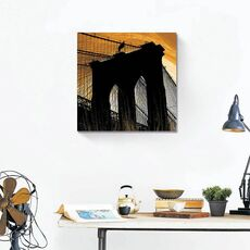 Tablou Canvas - Brooklyn in lumina, Pod, Punte, Intuneric, fig. 1