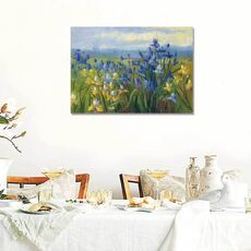 Tablou Canvas - Blue and Yellow Flower Field, fig. 1