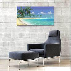 Tablou Canvas - Adiere tropicala, Mare, Palmier, Mal, Plaja, fig. 1