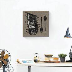 Tablou Canvas - Cafea pe pânză III, fig. 1