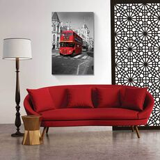 Tablou Canvas - Autobuz roșu, fig. 1