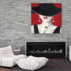 Tablou Canvas - Haute Chapeau Rouge I, fig. 1