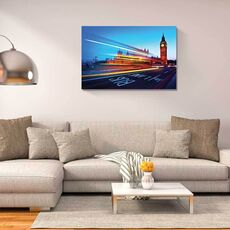 Tablou Canvas - Big Ben, Londra, Sosea, Lumini, fig. 1